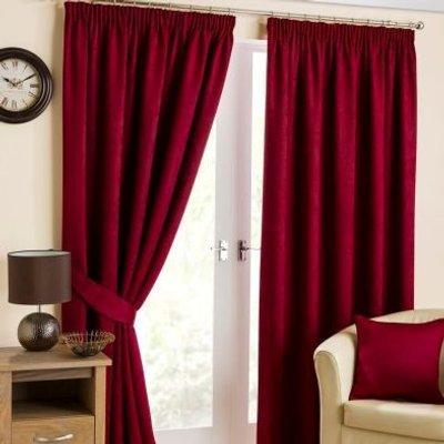 """Hamilton McBride Fusion Black Out Curtains (90"""" x 90"""") - Cranberry"""