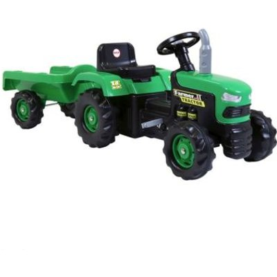 Dolu Ride On Green Tractor With Trailer