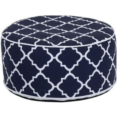 Bentley Inflatable Foot Stool Navy Blue