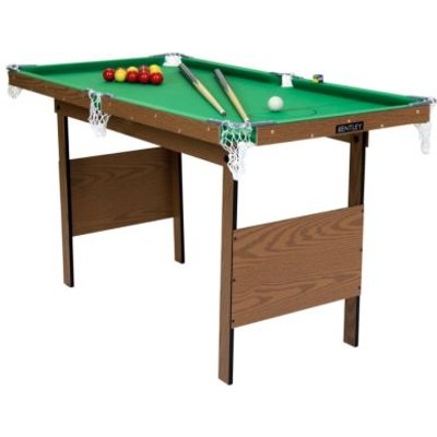 2-in-1 Kids Junior 4Foot Green Indoor Snooker & Pool Games Table