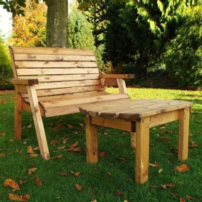 Deluxe Bench Scandinavian Redwood Garden Set