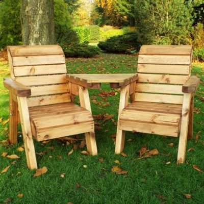 Little Fellas 2 Seat Angled Redwood Kids Twin Companion Garden Seat