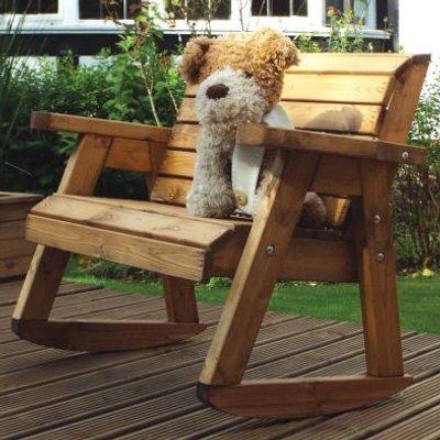 Charles Taylor Little Fella's Garden 2 Seat Kids Rocker Bench