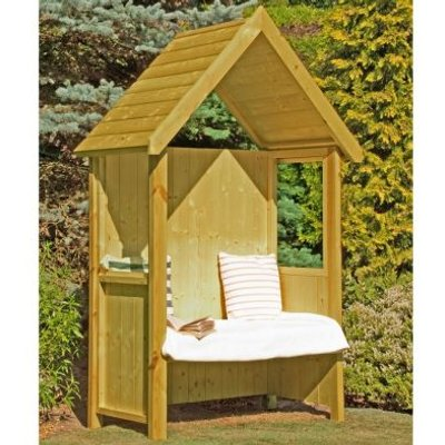 Shire Hebe Pressure Treated Garden Arbour 5' x 3'