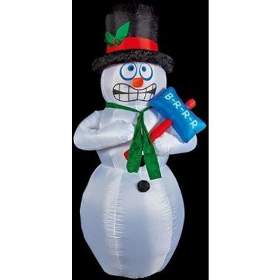 4 LED White Outdoor Inflatable Snowman Christmas Decoration Mains 5M