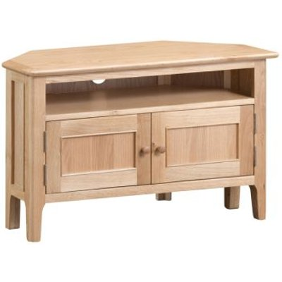 Bayview Corner TV Unit Oak 2 Door 1 Shelf