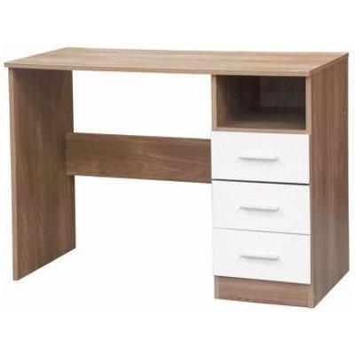 Ottawa White Gloss & Oak Finish Study Desk