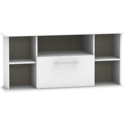 Colby Corner TV Unit White 5 Shelf 1 Drawer
