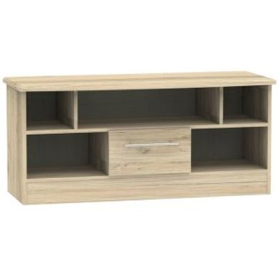 Colby TV Unit 5 Shelf 1 Drawer Bordeux Oak Style