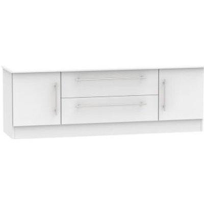 Colby TV Unit White 2 Door 2 Drawer