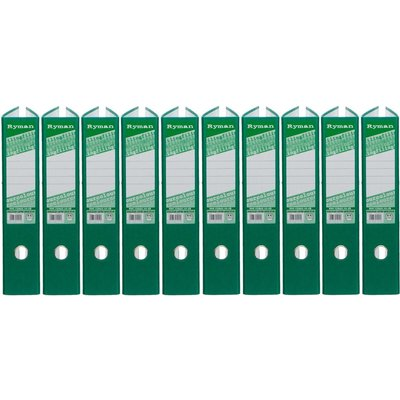Ryman Colour Lever Arch Files Foolscap Pack of 10, Green