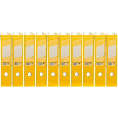 Ryman Colour Lever Arch Files Foolscap Pack of 10, Yellow