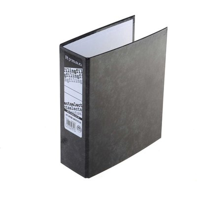 Ryman Select Lever Arch Files A5 Pack of 10, Charcoal