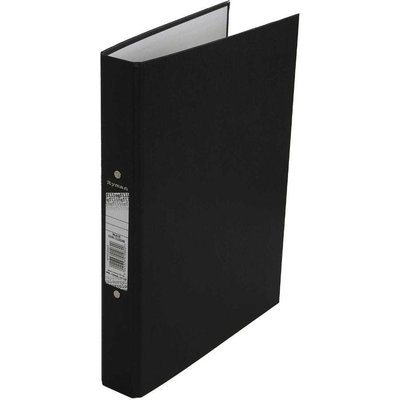 Ryman Colour Ringbinder A4 2-Ring Pack of 10, Black