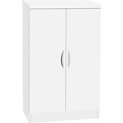 R White Mid Height Cupboard 600mm Wide, White