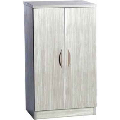 R White Mid Height Cupboard 600mm Wide, Grey Nebraska