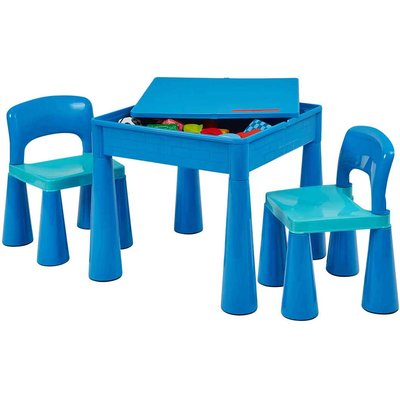 Liberty House Toys Kids Multifunctional Table and Chair, Blue