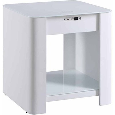 Jual San Francisco Smart Charging Table with Speakers and Nightlight, White