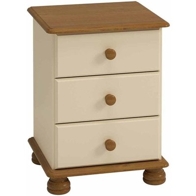 Steens Richmond 3 Drawer Bedside Table, Cream