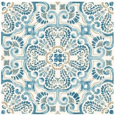 Fontaine Peel and Stick Floor Tiles, Multi