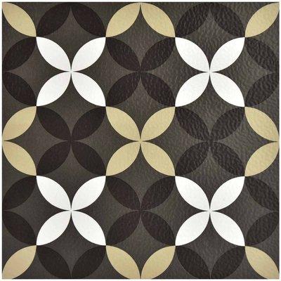 Clover Peel and Stick Floor Tiles, Multi