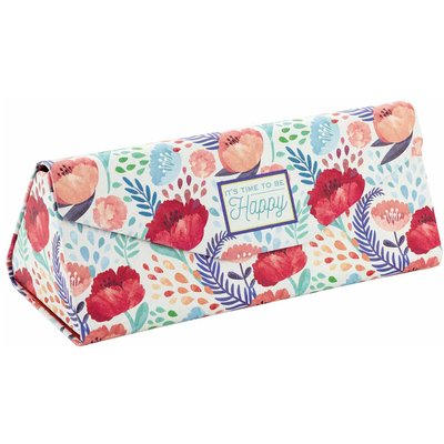 Legami See You Soon Foldable Glasses Case Flower, Green and red