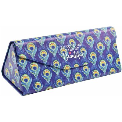 Legami See You Soon Foldable Glasses Case Peacock, Blue
