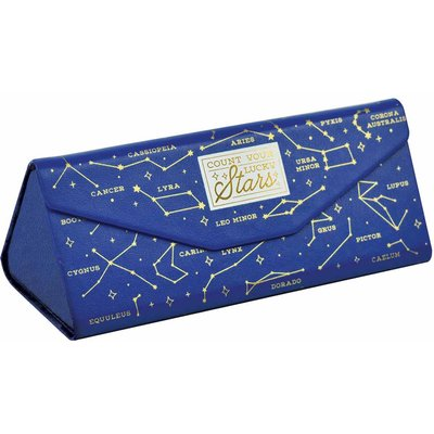 Legami See You Soon Foldable Glasses Case Stars, Blue
