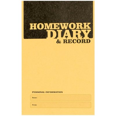 Silvine A6 Homework Diary 75gsm Pack of 20 - 5011566435217