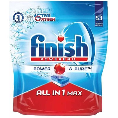 Finish All in One Turbo Max Dishwasher Tablets Pack of 53