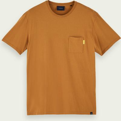 Scotch & Soda Kurzärmliges T-Shirt mit Tasche aus 100% Baumwolle