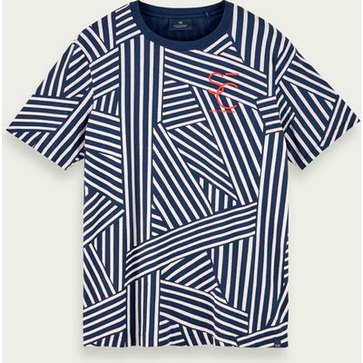 Scotch & Soda Kurzärmliges T-Shirt mit Muster aus 100% Baumwolle