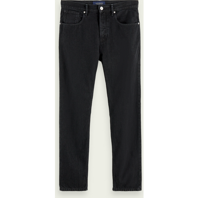 Scotch & Soda The Norm– Clean Black, High-Rise Straight Fit Jeans aus Bio-Baumwolle