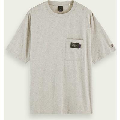 Scotch & Soda Kurzärmliges T-Shirt mit Tasche aus Baumwollmischung