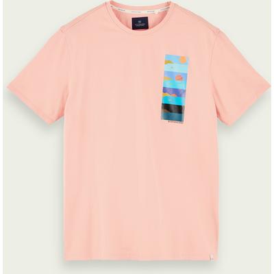 Scotch & Soda Kurzärmliges T-Shirt mit Logo-Print aus 100% Baumwolle