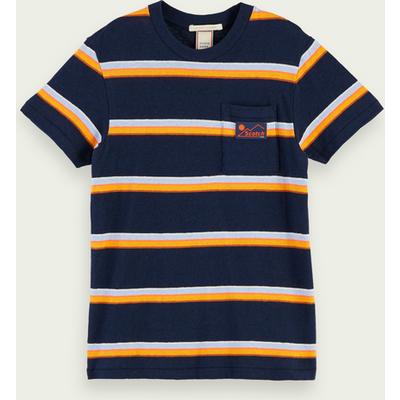 Scotch & Soda Kurzärmliges T-Shirt aus Baumwoll-Leinenmischung