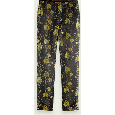 Scotch & Soda Figurbetonte Hose mit floralem Jacquardmuster | SCOTCH & SODA SALE