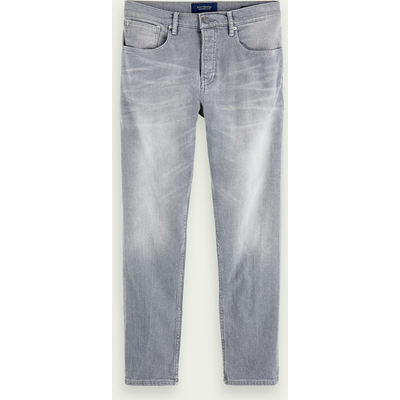 Scotch & Soda The Norm– Stone And Sand, High-Rise Straight Fit Jeans