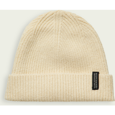 Scotch & Soda Beanie aus weichem Rippstrick mit Stretchanteil | SCOTCH & SODA SALE