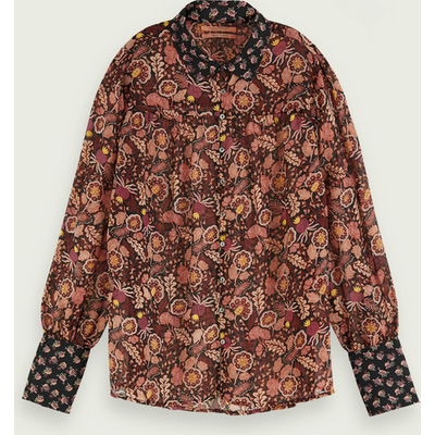 Scotch & Soda Langärmliges Button-Down-Shirt mit Print-Mix | SCOTCH & SODA SALE