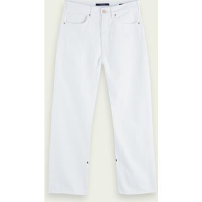 Scotch & Soda Extra Boyfriend Fit – 100% Baumwolle – Coconut White, Mid-Rise Jeans