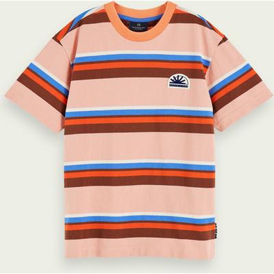 Scotch & Soda Kurzärmliges Oversize-T-Shirt aus reiner Baumwolle