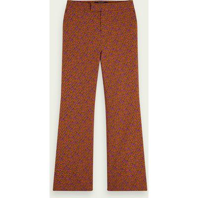 Scotch & Soda Stretch-Hose mit weitem Bein und Blumen-Print