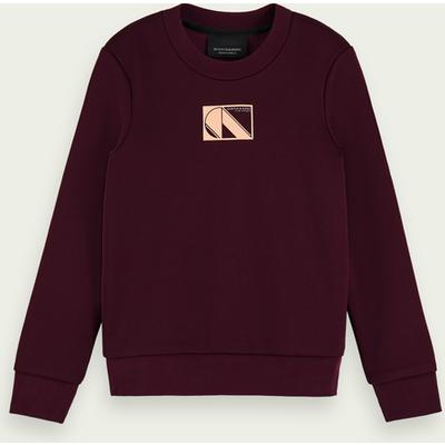 Scotch & Soda Langärmliges Basic Sweatshirt aus Baumwollmischung   SCOTCH & SODA SALE