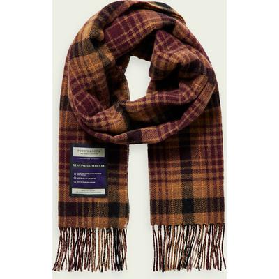 Scotch & Soda Karierter Schal aus weicher Wollmischung