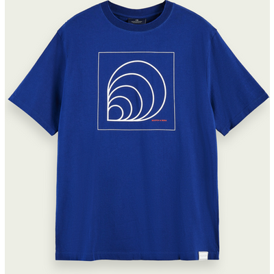 Scotch & Soda Kurzärmliges T-Shirt mit Artwork aus Bio-Baumwolle