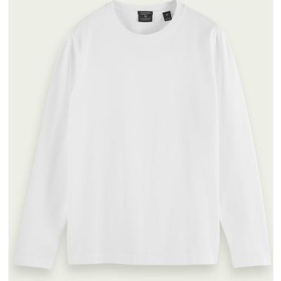 Scotch & Soda Langärmliges T-Shirt aus schwerer Bio-Baumwolle