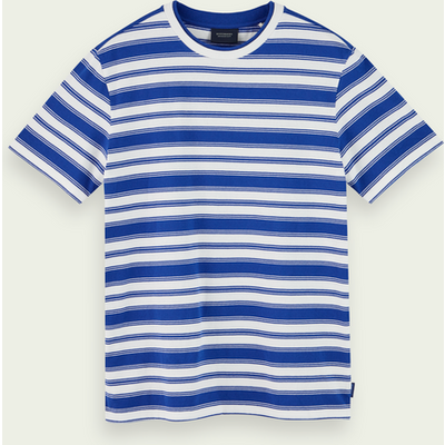 Scotch & Soda Kurzärmliges, gestreiftes T-Shirt aus 100% Baumwolle