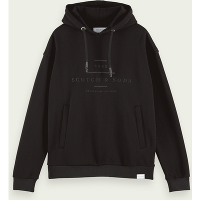 Scotch & Soda Langärmliger Logo-Hoodie aus Baumwollmischung | SCOTCH & SODA SALE