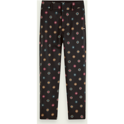 Scotch & Soda Figurbetonte Hose mit Sternen-Print, Mid-Rise | SCOTCH & SODA SALE